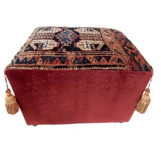 Antique Kurdish Rug Ottoman