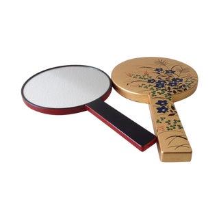 Chinoiserie Dual Hand Held Vanity Mirror