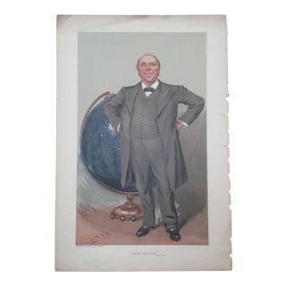 1905 Original Vanity Fair Scientist Print by Sir Robert Ball