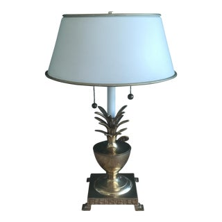 Antique Hollywood Regency Brass Pineapple Table Lamp
