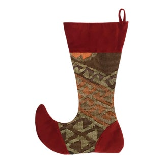 Large Kilim Christmas Stocking | Jolly