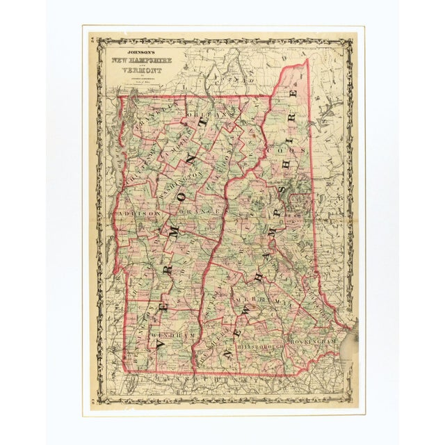 Antique Map of New Hampshire & Vermont, 1861 - Image 3 of 4