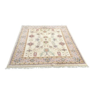 Tree of Life Persian Grey & Pink Rug - 8′ × 10′5″
