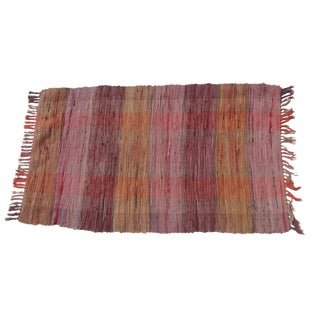 Swedish Hand-Woven Rag Rug - 2′4″ × 4′1″