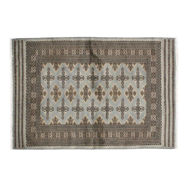 "Leon Banilivi Blue Royal Bokara Rug - 4'1"" X 6' - Image 1 of 7"