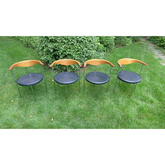 Frederik Sieck for Fritz Hansen Chairs - Set of 4 - Image 2 of 11