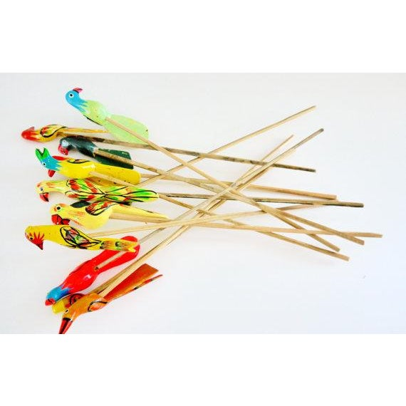 Birds of Paradise Cocktail Stirrers - Set of 12 - Image 5 of 6