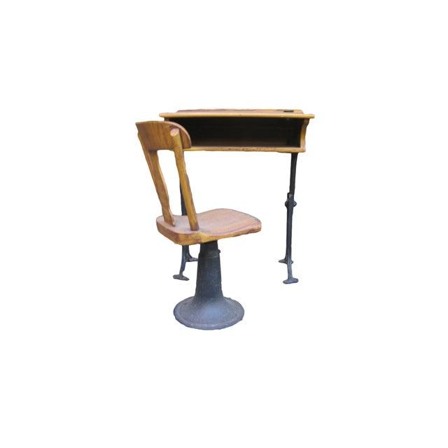 Antique Chandler Adjustable School Desk - Image 2 of 5