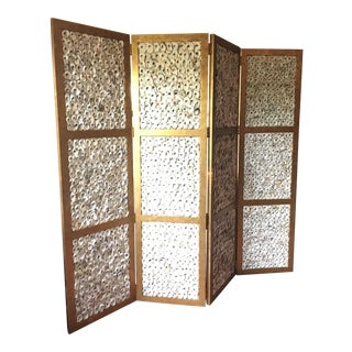 Currey & Company Gold Oyster Shell Screen