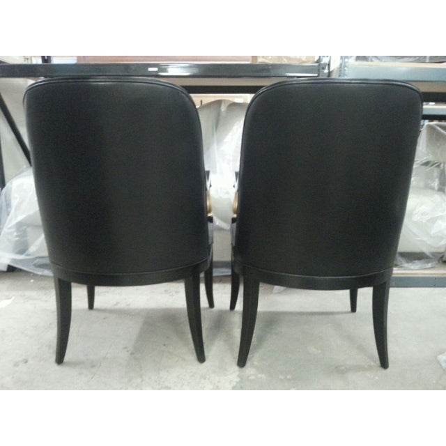 Andre Arbus Baker Leather Arm Chairs - A Pair - Image 5 of 5