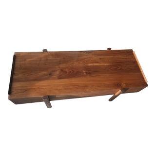Solid American Walnut Coffee Table by Organic Modernism