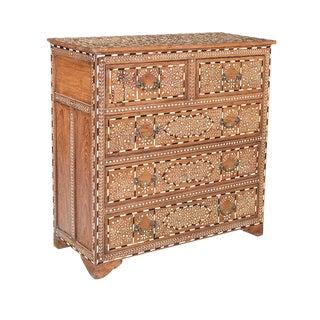 Teak Inlay Dresser