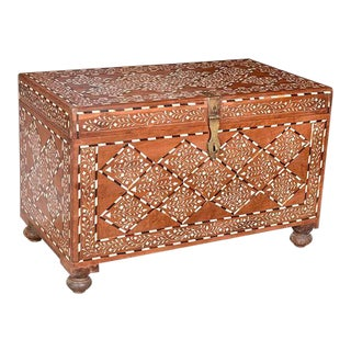 Bone Inlay Trunk Table