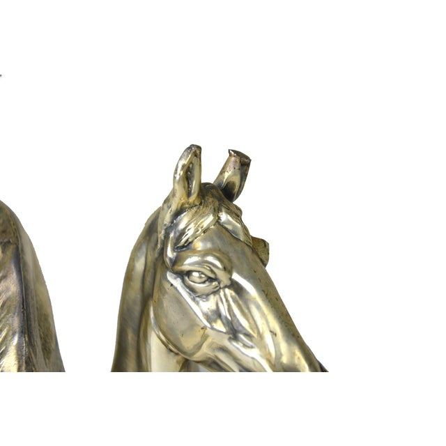 Image of Vintage Equestrian Bookends - A Pair