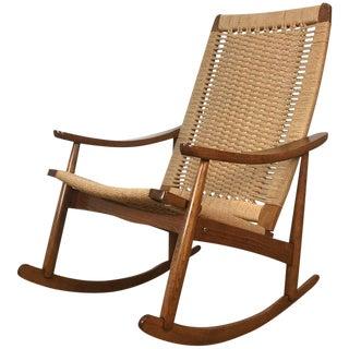 Mid-Century Wegner Style Rocking Chair