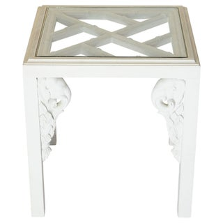 Chinoiserie Fretwork Elephant Side Table