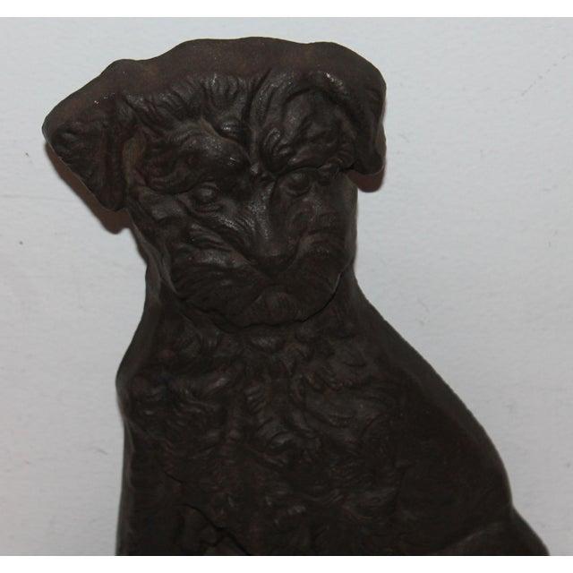 Monumental 19Thc Cast Iron Dog - Image 3 of 6