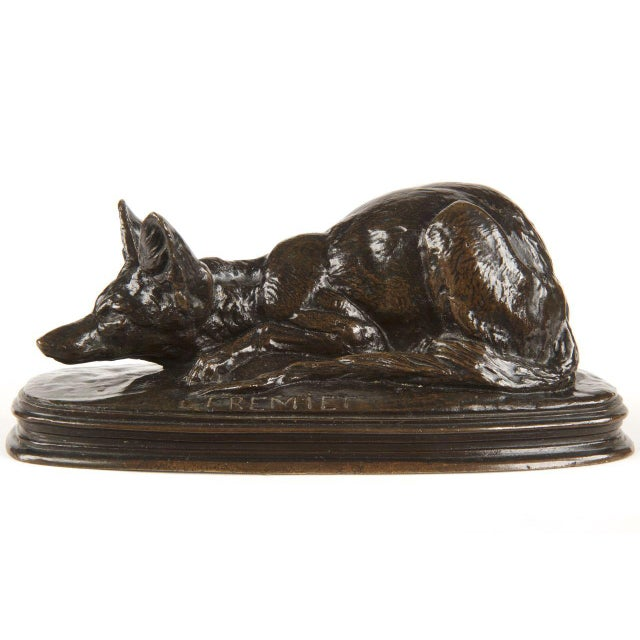 Emmanuel Fremiet Bronze Sculpture of a Fox - Image 2 of 10
