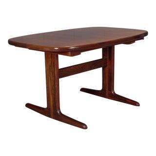 Dyrlund Modern Hidden Leaf Rosewood Dining Table
