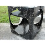 Image of Abstract Geometric Rolling Bar Cart/Table