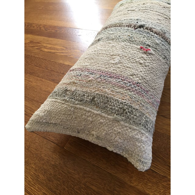 Moroccan Kilim Boho Pastel Pillow Cover - Image 5 of 7