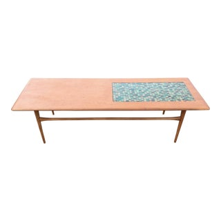 Danish Teak Mosaic Coffee Table by Selig