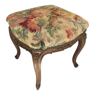 Antique French Tapestry Stool