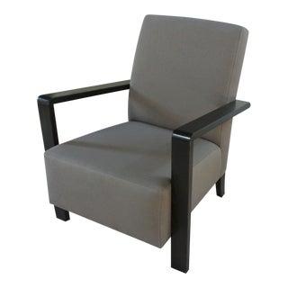 Art Deco Taupe Club Chair