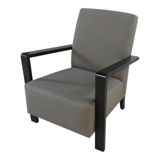 Art Deco Taupe Club Chair