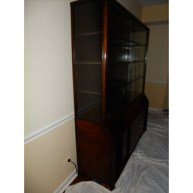 Mid-Century Glass Front China Display Cabinet - Image 5 of 11