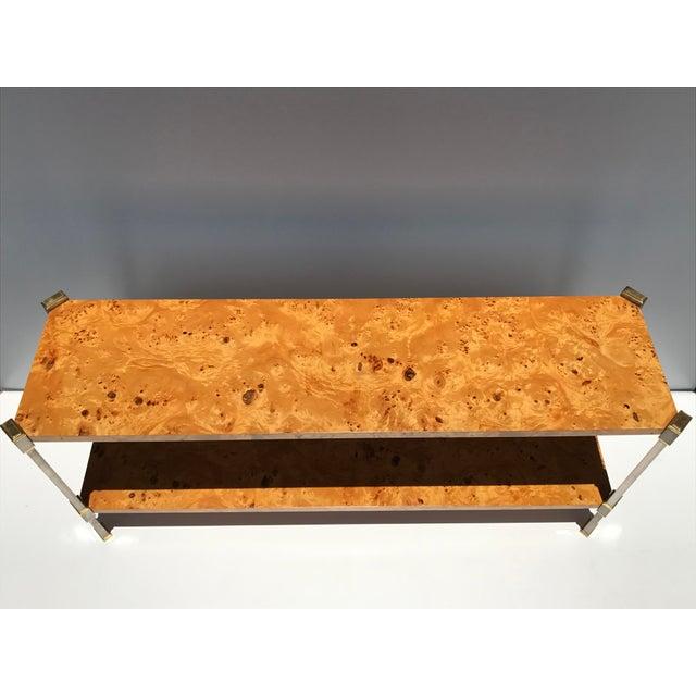 Burlwood Console Table Attributed to Romeo Rega - Image 3 of 11