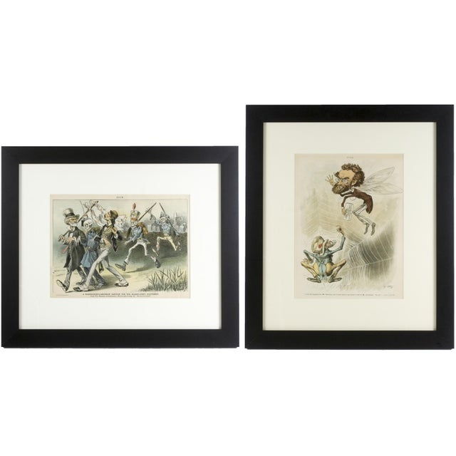 1888 Puck Political Cartoon Chromoliths - A Pair - Image 1 of 9