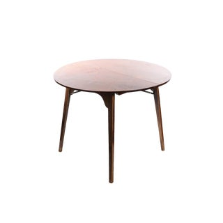 Howe Mid-Century Folding Wooden Round Table