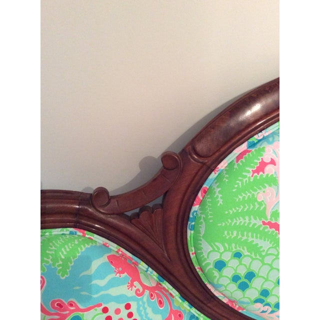 Image of Lilly Pulitzer Refurbished Antique Settee/Sofa