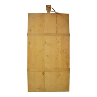 1920s French Boulangerie Bread Cutting Board