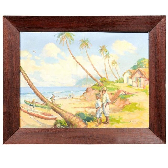 Island Landscape Oil Painting - Image 2 of 6