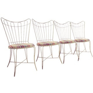 Homecrest Wire Patio Chairs - Set of 4