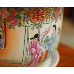 Image of Chinese Famille Rose Cache Pot Planters - A Pair