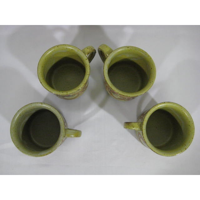 Vintage Stoneware Mugs - Set of 4 - Image 6 of 7