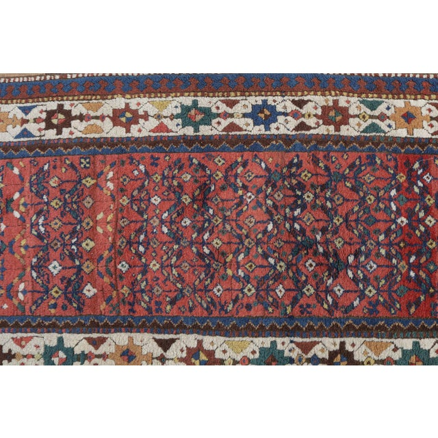 "Mint West Persian Kurdish Antique Rug - 3'4"" X 11' - Image 2 of 4"
