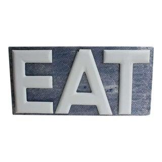 1930's Porcelain EAT Sign