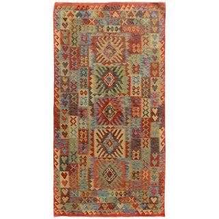 Kilim Arya Mickey Multicolored & Red Wool Rug - 4'9 X 8'9