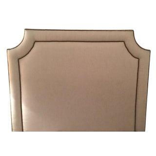 Belgian Linen Upholstered Queen Size Bed & Skirt