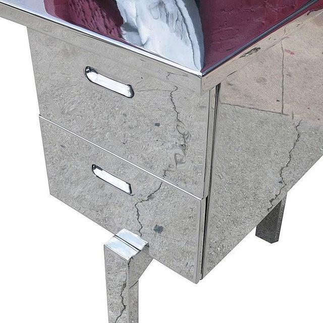 Polished Aluminium WWII Campaign Desk - Image 9 of 10