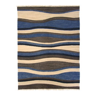 Modern Waves Turkish Kilim | 5'11 x 7'11 Flatweave