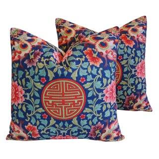 Imperial Chinese Medallion Pillows- a Pair