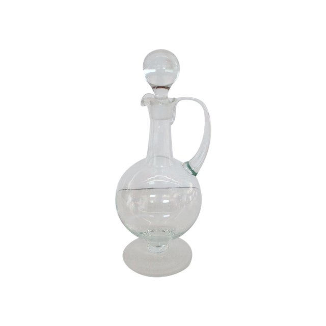 Image of Vintage Polish Decanter with Stopper