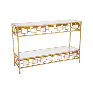Gianna Mirrored Top Console Table