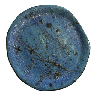 Blue & Black Abstract Plate