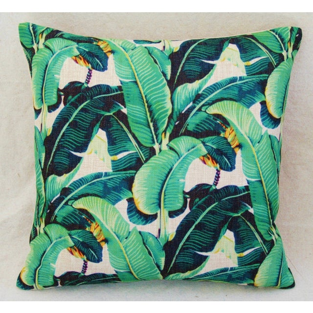 Dorothy Draper-Style Banana Leaf Pillows - A Pair - Image 4 of 10